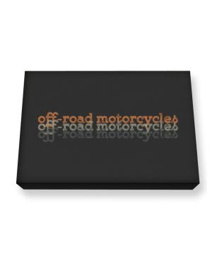 Off-Road Motorcycles repeat retro Canvas square