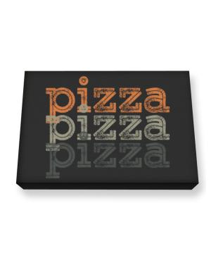 Pizza repeat retro Canvas square