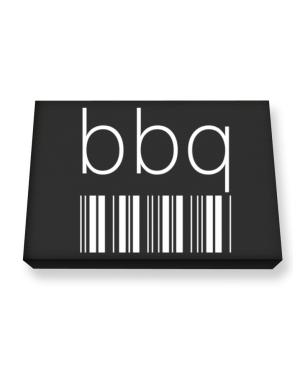BBQ barcode Canvas square