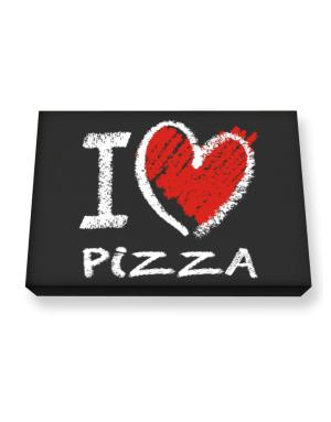 I love Pizza chalk style Canvas square