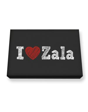 I love Zala Canvas square