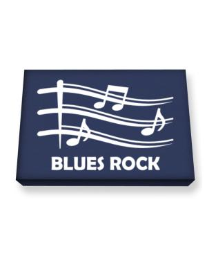 Blues Rock - Musical Notes Canvas square