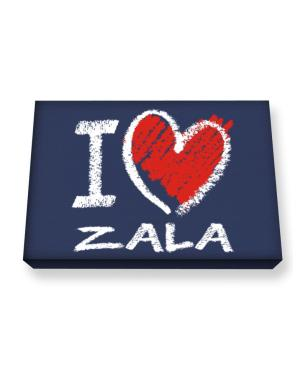 I love Zala chalk style Canvas square