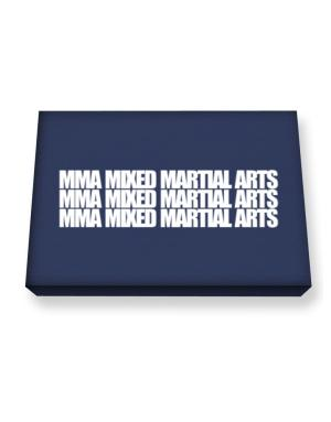 MMA Mixed Martial Arts three words Canvas square