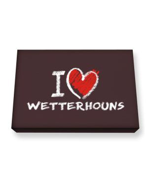 I love Wetterhouns chalk style Canvas square