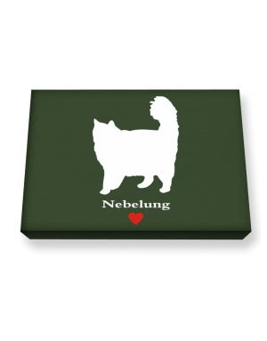 Nebelung love Canvas square