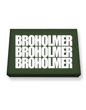Broholmer three words Canvas square