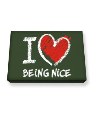 I love Being Nice chalk style Canvas square