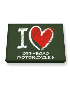 I love Off-Road Motorcycles chalk style Canvas square