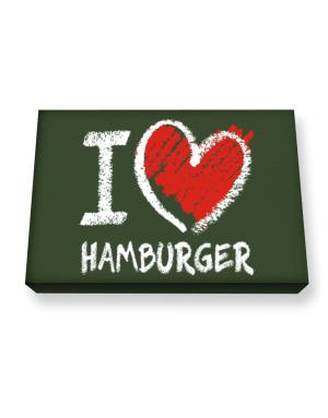 I love Hamburger chalk style Canvas square