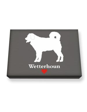 Wetterhoun love Canvas square