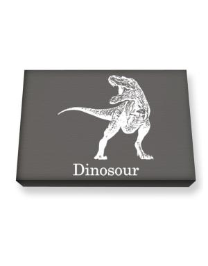 Dinosour silhouette Canvas square