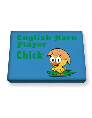 English Horn Player chick Canvas square