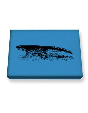Black Spotted Newt sketch Canvas square