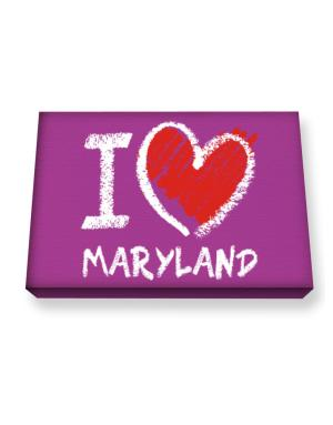 I love Maryland chalk style Canvas square