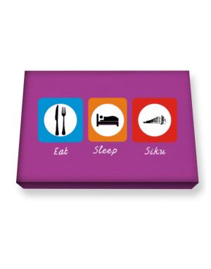 Eat sleep Siku Canvas square