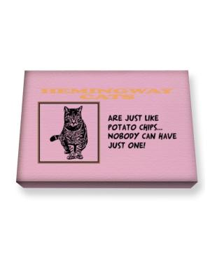 Hemingway Cats are just like potato chips Canvas square