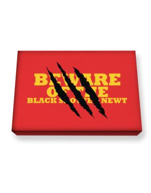 Beware Of The Black Spotted Newt Canvas square
