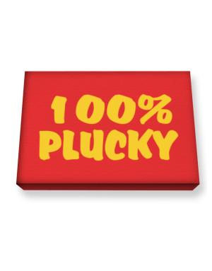 100% Plucky Canvas square