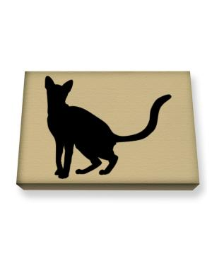 American Polydactyl silhouette Canvas square