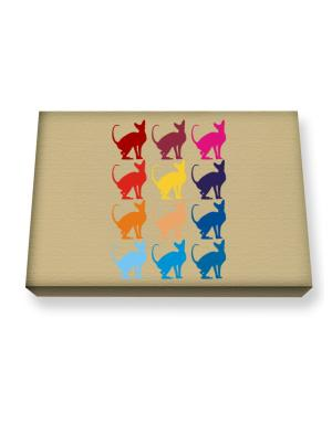 Colorful Peterbald Canvas square