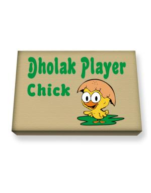 Dholak Player chick Canvas square