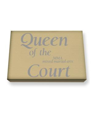 Queen of the MMA Mixed Martial Arts court Canvas square