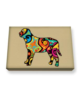 Psychedelic Broholmer Canvas square