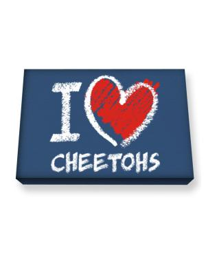 I love Cheetohs chalk style Canvas square