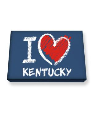I love Kentucky chalk style Canvas square