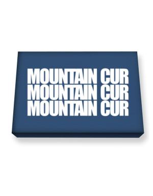 Mountain Cur three words Canvas square