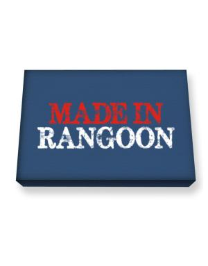 Made in Rangoon Canvas square