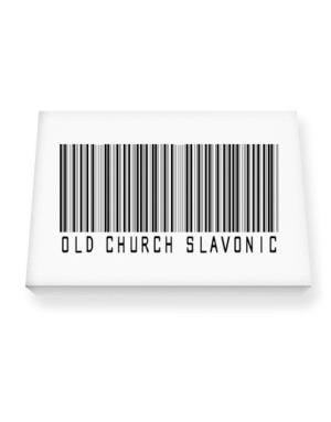 Old Church Slavonic Barcode Canvas square