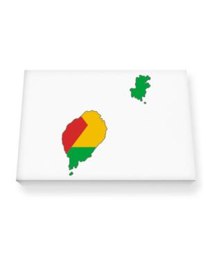 Sao Tome And Principe - Country Map Color Simple Canvas square