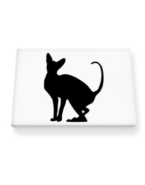 Peterbald silhouette Canvas square