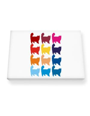 Colorful Nebelung Canvas square