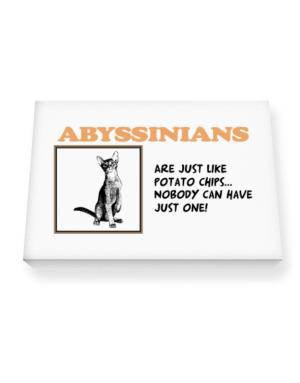 Abyssinians are just like potato chips Canvas square
