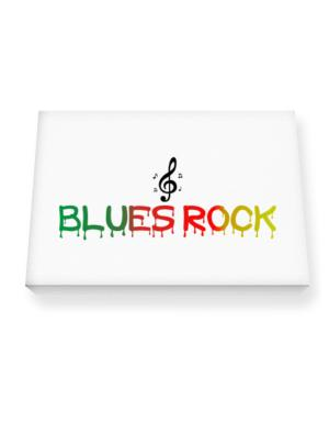 Dripping Blues Rock Canvas square
