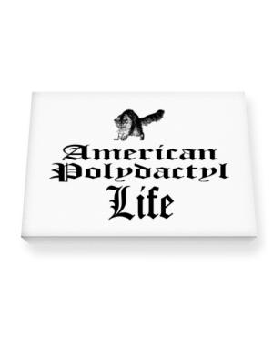 American Polydactyl life Canvas square