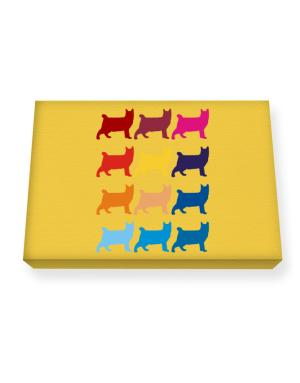 Colorful Pixie-Bob Canvas square