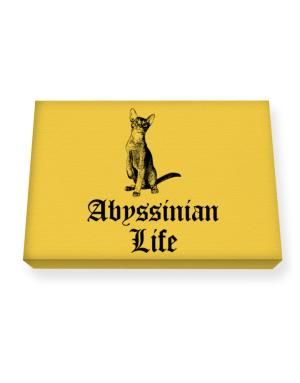 Abyssinian life Canvas square