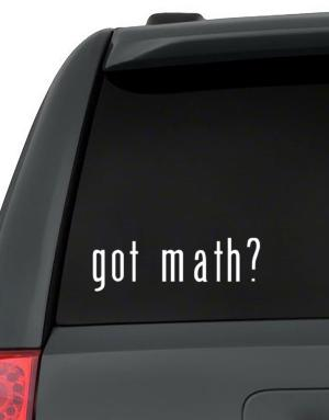 Got Math? Decal Pack