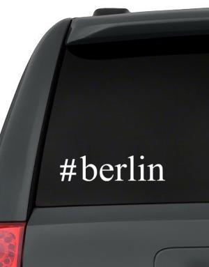 #Berlin - Hashtag Decal Pack