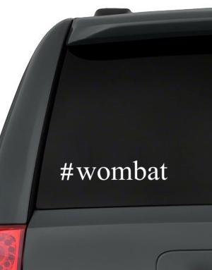 #Wombat - Hashtag Decal Pack