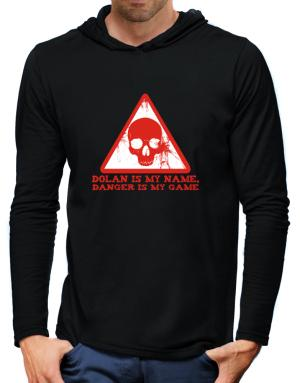 Dolan Is My Name, Danger Is My Game Hooded Long Sleeve T-Shirt-Mens