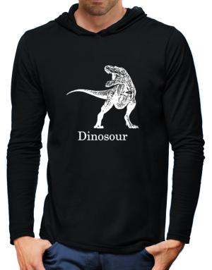 Dinosour silhouette Hooded Long Sleeve T-Shirt-Mens