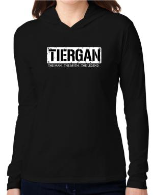 Tiergan : The Man - The Myth - The Legend Hooded Long Sleeve T-Shirt Women