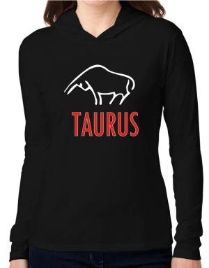 Taurus - Cartoon Hooded Long Sleeve T-Shirt Women