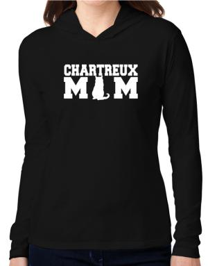 Chartreux mom Hooded Long Sleeve T-Shirt Women