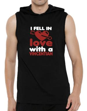 I Fell In Love With A Vincentian Hooded Sleeveless T-Shirt - Mens